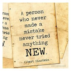 Art.com 'A Person Who Never Made A Mistake' Wall Art Print