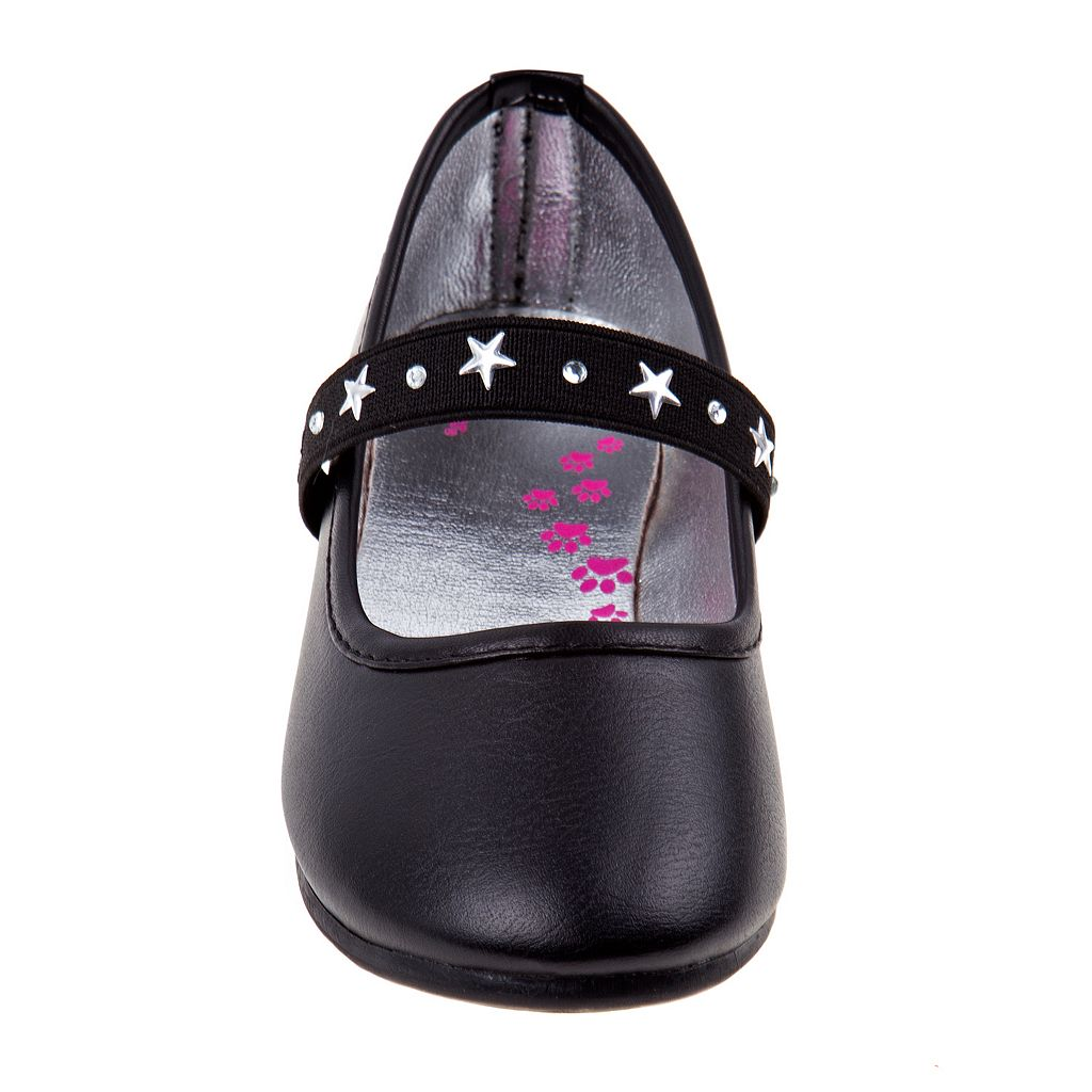 Rugged Bear Girls' Star Strap Ballet Flats