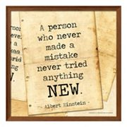 Art.com 'A Person Who Never Made A Mistake' Framed Wall Art