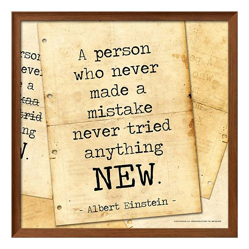 "Art.com ""A Person Who Never Made A Mistake"" Framed Wall Art"