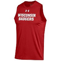 Men's Under Armour Wisconsin Badgers Tech Muscle Tee