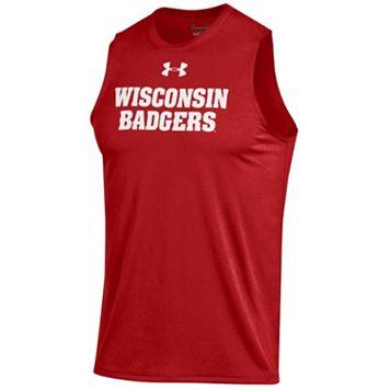 Men's Under Armour Wisconsin Badgers Tech Muscle Tee