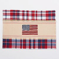 Celebrate Americana Together Plaid Flag Placemat