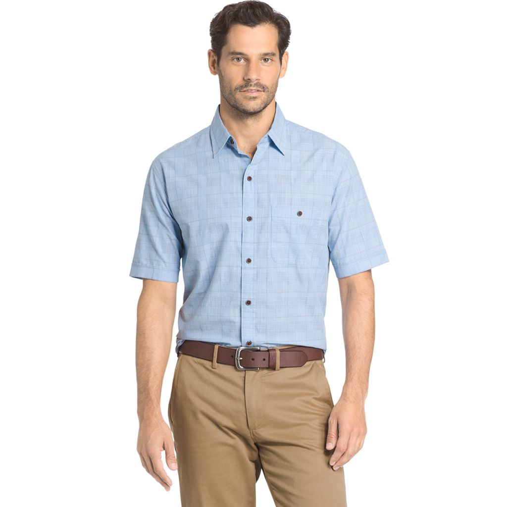 Men's Arrow Boardwalk Bay Classic-Fit Plaid Button-Down Shirt