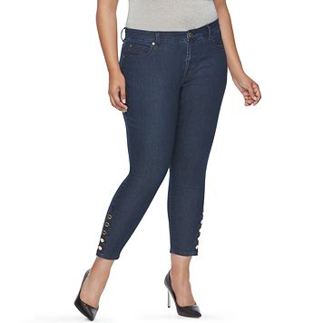Plus Size Jennifer Lopez Skinny Ankle Jeans