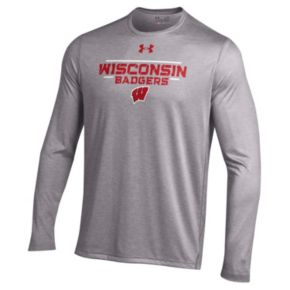 Men's Under Armour Wisconsin Badgers Tech Long-Sleeve Tee