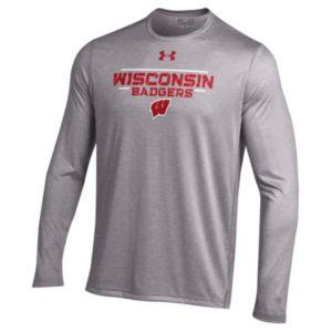 Men's Under Armour Wisconsin Badgers Tech Long-Sleeve Tee