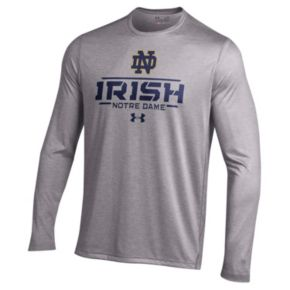 Men's Under Armour Notre Dame Fighting Irish Tech Long-Sleeve Tee