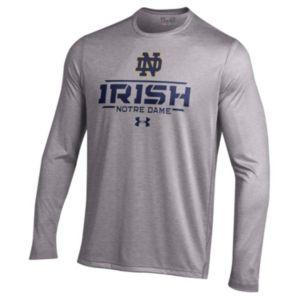 Men's Under Armour Notre Dame Fighting Irish Tech Long-Sleeve Tee