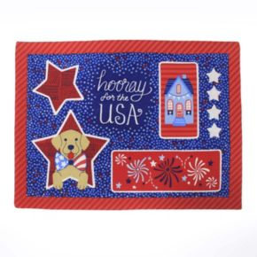 Celebrate Americana Together Faux Applique Placemat