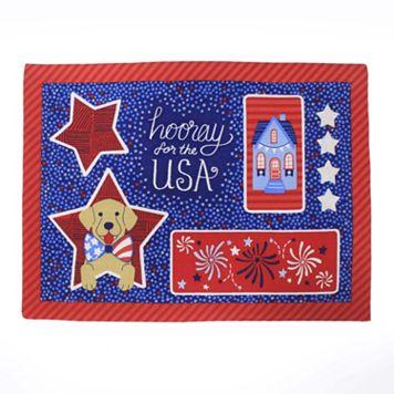 Celebrate Americana Together Faux Applique Placemat