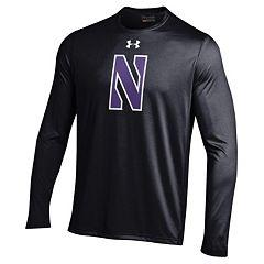 Men's Under Armour Northwestern Wildcats Tech Long-Sleeve Tee