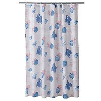 Sea Script Shower Curtain