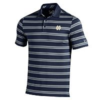 Men's Under Armour Notre Dame Fighting Irish Striped Performance Polo