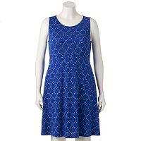 Plus Size Apt. 9® Crepe Fit & Flare Dress