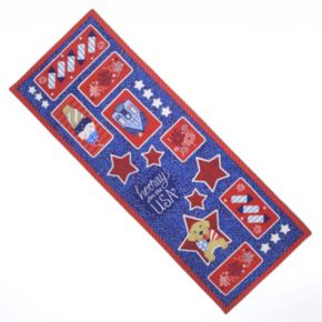 """Celebrate Americana Together Faux Applique Table Runner - 36"""""""