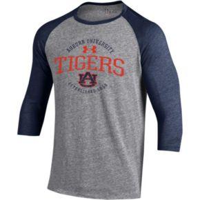 Men's Under Armour Auburn Tigers Triblend Baseball Tee