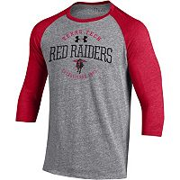 Men's Under Armour Texas Tech Red Raiders Triblend Baseball Tee