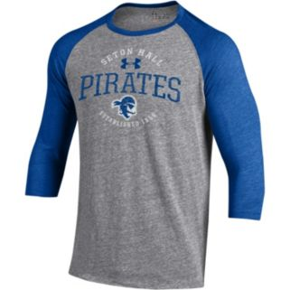 Men's Under Armour Seton Hall Pirates Triblend Baseball Tee