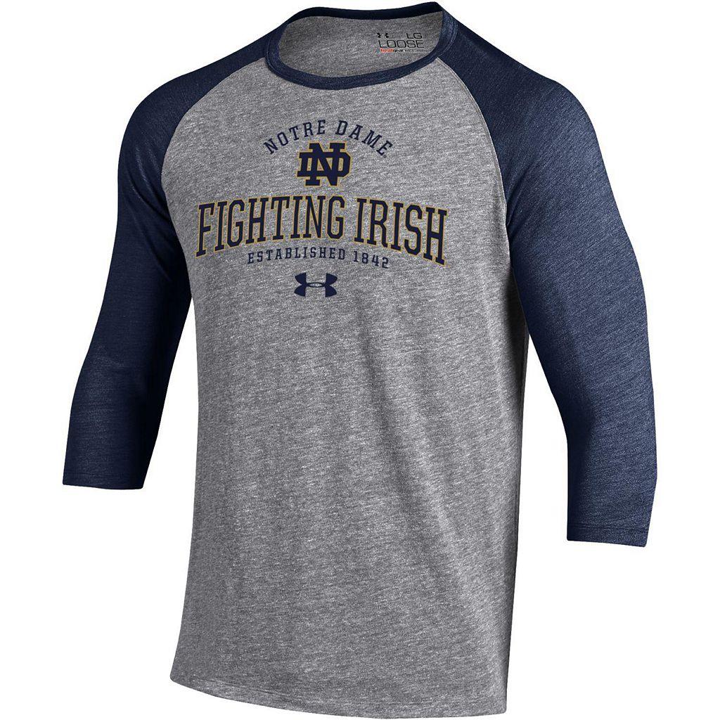 Men's Under Armour Notre Dame Fighting Irish Triblend Baseball Tee