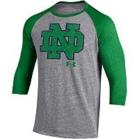 Men's Under Armour Notre Dame Fighting Irish Triblend Baseball Tee