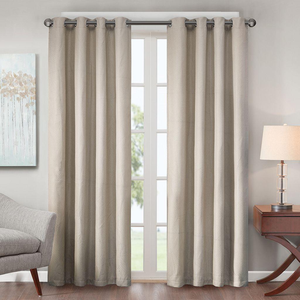 Madison Park Declan Lined Jacquard Curtain