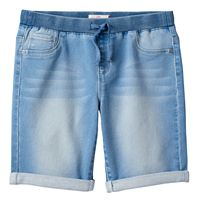Girls 7-16 & Plus Size SO® Ribbed Waist Bermuda Jean Shorts