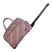 Jenni Chan Tiles Carry-All Wheeled Duffel Bag