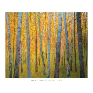 Art.com Forest Verticals Wall Art Print