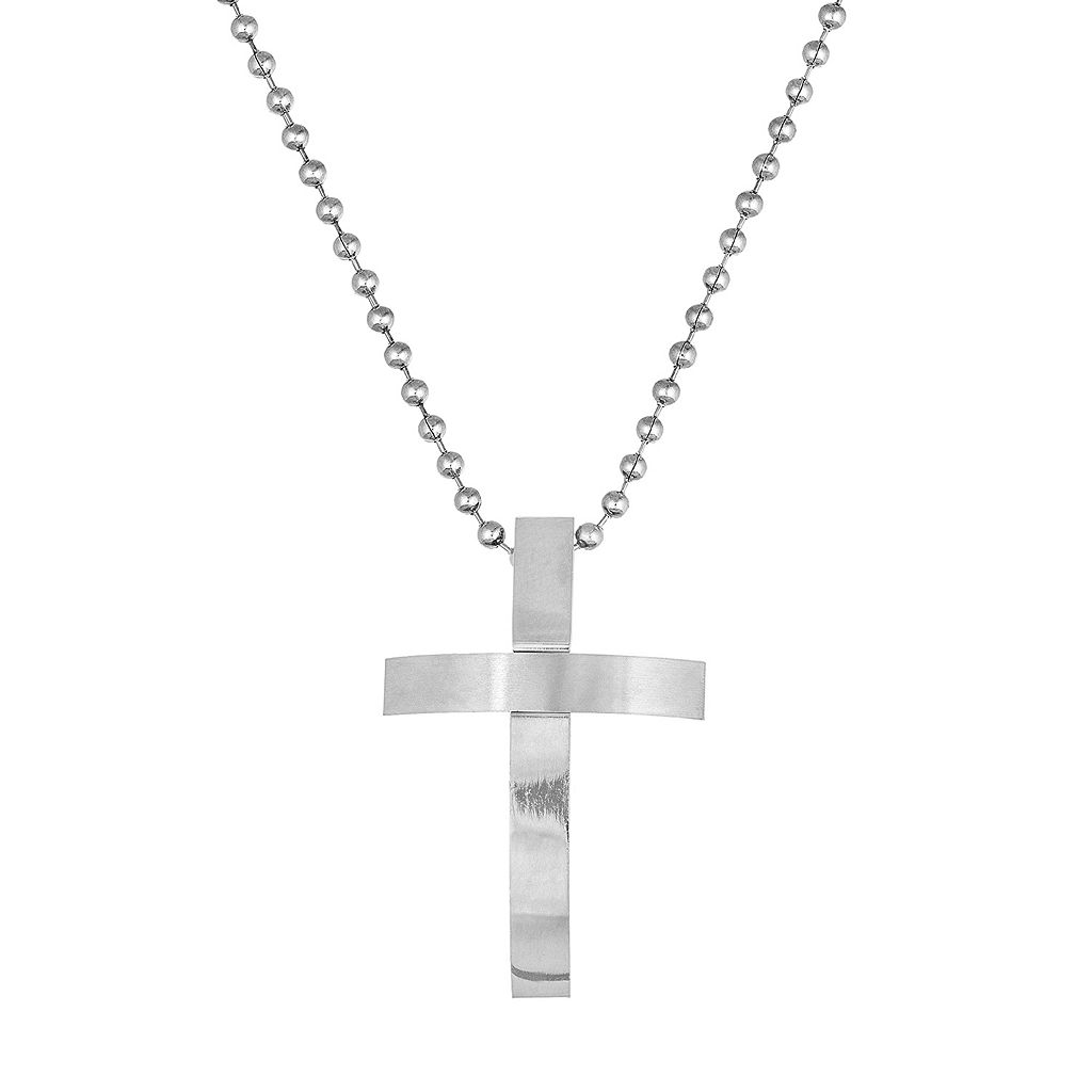 1913 Men's Stainless Steel Cross Pendant Necklace