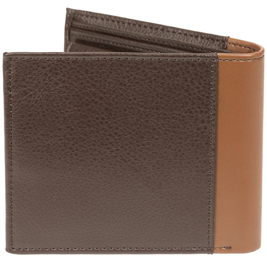 Men's Lee RFID-Blocking Tumbled-Leather Passcase Bifold Wallet