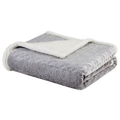Madison Park Elma Oversized Textured Plush Throw