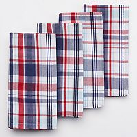 Celebrate Americana Together Red, White and Blue Plaid Napkin 4-pk.
