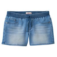 Girls 7-16 & Plus Size SO® Ribbed Waist Jean Shorts