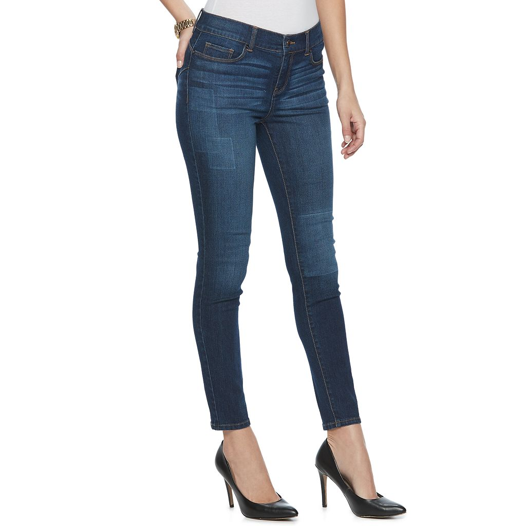 Women's Juicy Couture Shadow Patch Skinny Jeans
