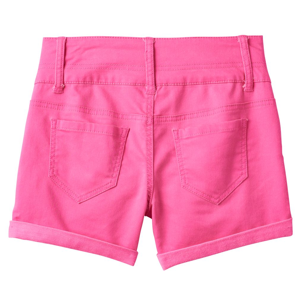 Girls 7-16 & Plus Size SO® Braided Belt Loop High-Waist Shorts