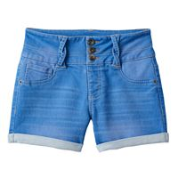 Girls 7-16 & Plus Size SO® Braided Belt Loop High-Waist Jean Shorts