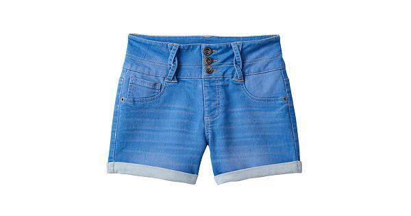 Girls 7 16 Amp Plus Size So 174 Braided Belt Loop High Waist Jean Shorts