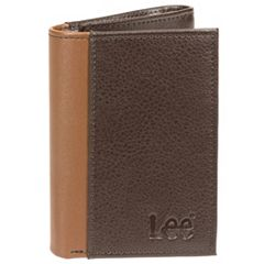 Men's Lee RFID-Blocking Pebbled-Leather Trifold Wallet