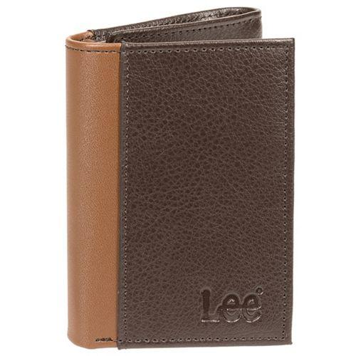 Men's Lee RFID-Blocking Pebbled-Leather Trifold Wallet