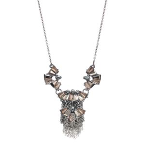 Simply Vera Vera Wang Stone Cluster Fringe Necklace