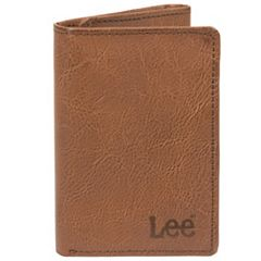 Men's Lee RFID-Blocking Burnished Leather Trifold Wallet