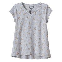Girls 4-10 Jumping Beans® Slubbed Foil Print Tee