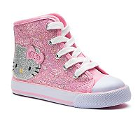 Hello Kitty® Toddler Girls' Glittery High Top Sneakers