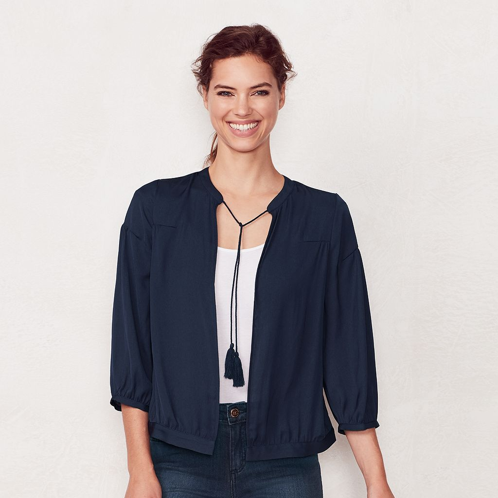 Women's LC Lauren Conrad Embroidered Bomber Jacket