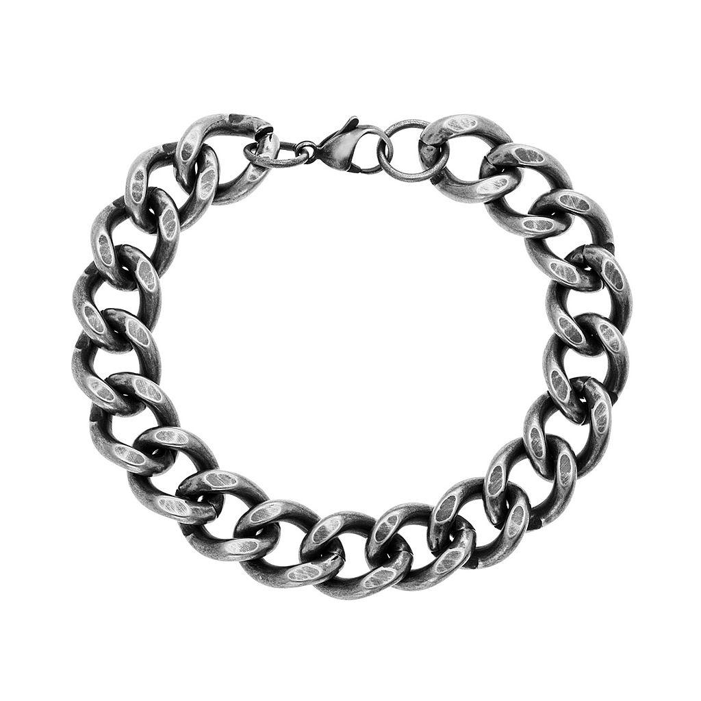 1913 Men's Stainless Steel Curb Chain Bracelet