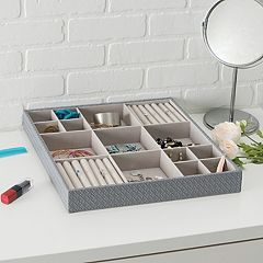 Home Basics 15 Compartment Jewelry Organizer