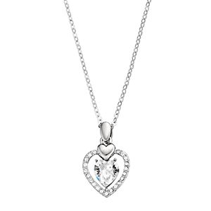 Brilliance Crystal Double Heart Pendant with Swarovski Crystals