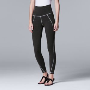 Simply Vera Vera Wang Solid Front Seam Leggings