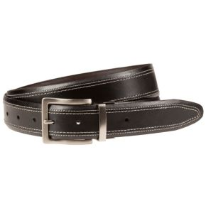 Men's Lee Beveled Edge Stitched Belt